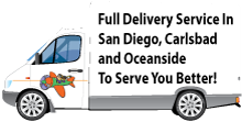 Delivery To San Diego, Carlsbad and Oceanside