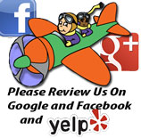 Please Review Us On Google and Facebook!